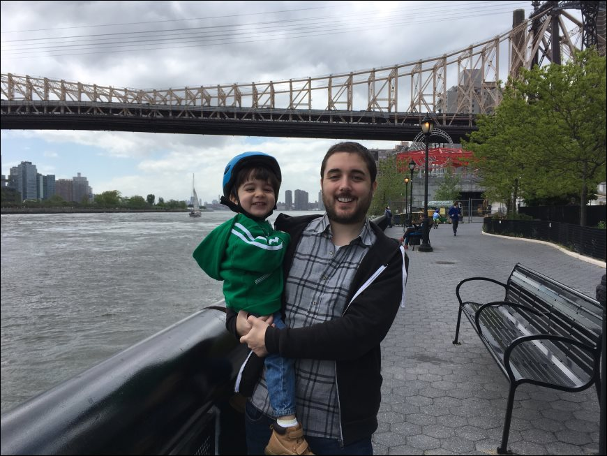 Chris and Patrick near Queensboro Bridge